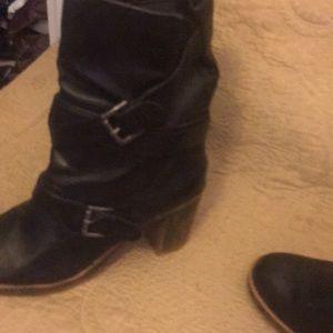 "Black Nine West 9"" ankle boots"